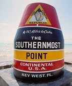 Southernmost Marker Near South Beach