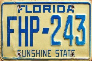 Florida Licence Plate