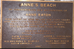 annes beach plaque