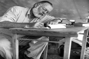 Ernest Hemingway Key West At His Desk