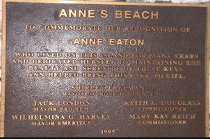 annes beach plaque