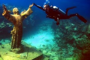 Christ of The Abyss Near Molasses Reef